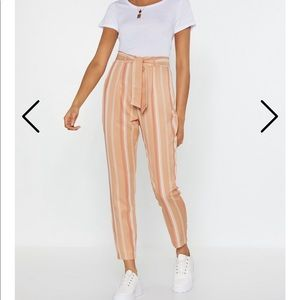 NWT Nasty Gal Striped High Waisted Pants
